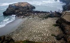 Картины на песке от Andres Amador - Путешествуем вместе