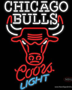 Coors Light Neon Chicago Bulls NBA Real Neon Glass Tube Neon Sign,Affordable and durable,Made in USA,if you want to get it ,please click the visit button or go to my website,you can get everything neon from us. based in CA USA, free shipping and 1 year warranty , 24/7 service