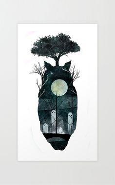 Full Moon Spirits Print | dotandbo.com