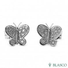 Pendientes Mariposas de oro blanco y diamantes  #pendientes #earrings butterflies #butterflies #joyas #jewels #offersjewels #makers price Pendientes de novia