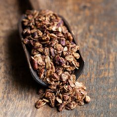 Cinnamon-Honey Granola | This delicious granola is made with just six ingredients; rolled oats, honey, chopped pecans, cinnamon, salt and walnut oil, which adds an extra-nutty flavor.