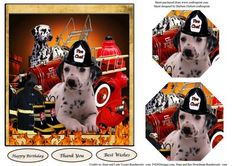Dalmatian on Duty Topper Pyramid Layers on Craftsuprint - Add To Basket!