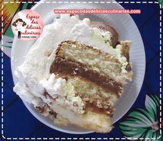 Bolo Sonho de Valsa com chantilly de leite condensado e leite em pó, bolo recheado, bolo confeitado, passo a passo em vídeo bolo sonho de valsa