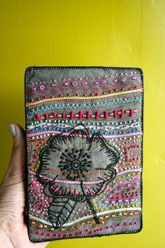 Illustrated Poppy Art Quilt by KimberlyAns on Etsy, $50.00