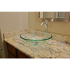 Guest Vanity with Glass Vessel Sink Bowl Bowl sinks Pinterest