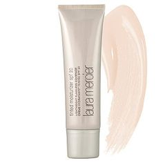 $43 (3,500 4 star reviews) Laura Mercier - Tinted Moisturizer Broad Spectrum SPF 20 in Nude - light beige/ for fair to light skin tones  #sephora  *Antioxidant vitamin complex (vitamin C and E) *Protects skin from effects of environment *Powerful moisturizer *SPF 20 *Long wearing color *Dermatologist and allergy tested *For all skin types
