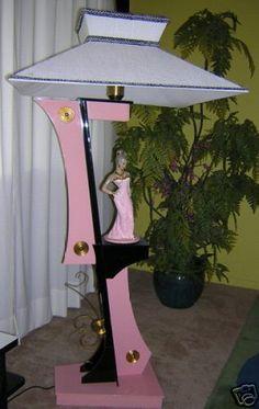 Moss floor lamp in pink