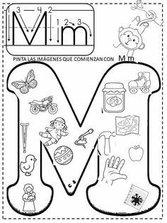 M is for monkey 🐒 Spanish Activities, Alphabet Activities, Preschool Worksheets, Teaching Spanish, Preschool Activities, Speech Language Therapy, Speech And Language, Spanish Lessons, English Lessons