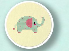 +This item is available for instant digital download*    A polka dot elephant counted cross stitch pattern! Use the cross-stitch pattern to