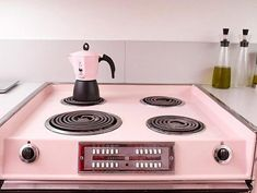 aplliance Stylish Kitchen with Retro Chick Look Design and Pink Color Selection