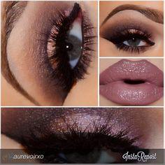 by #aurevoirxo Under Your Spell Makeup Look #motivescosmetics Lip Liner: Mac Plum Lipstick: Mac Hot Chocolate