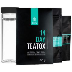 Affect Health 14 Day Teatox Kit // Loose leaf tea and powdered medicinal herbs combine to make a potent 14 day teatox program that includes:  1 x Daytime Teatox Pack (14 Day Supply) 1 x Nighttime Teatox Pack (14 Day Supply) 1 x Double Walled Tumbler + Stainless Steal Strainer  1 x Perfect Teaspoon 1x Total Detox Guide (e-book)