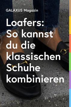 Falls du auf der Suche nach einer Alternative zu deinen Sneakers bist, ist ein Loafer die richtige Wahl. Der Trendschuh ist nicht nur bequem, sondern sieht auch edel aus. Kein Wunder, dass ihn gerade alle haben wollen. Wir zeigen dir, wie du den Halbschuh kombinieren kannst. Lifestyle, Fashion Tips, Loafers, Searching, Household, Fashion Hacks, Fashion Advice