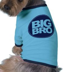 big bro t-shirt mix and match design doggie tee shirt from http://www.zazzle.com/pregnancy+announcement+pet+clothing