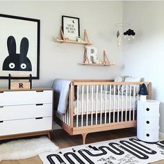 We spy an lovable black and white nursery! Thanks, We spy an lovable black and white nursery! Thanks, We spy an lovable black and white nursery!