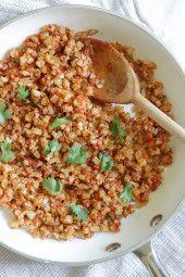 "Mexican Cauliflower ""Rice"" | Skinnytaste"