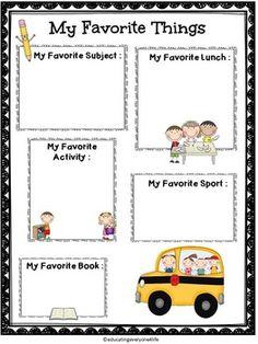 Back To School Activities - Fifth Grade Fun