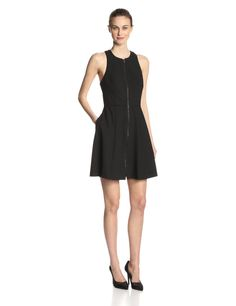 Bishop Zip Front Fit and Flare Dress by Trina Turk