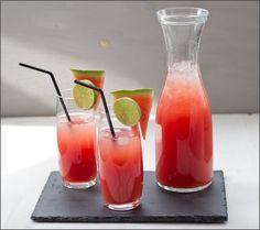 Rezept für erfrischende Wassermelonen-Limonade