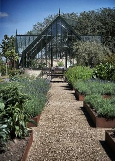 raised beds and green house