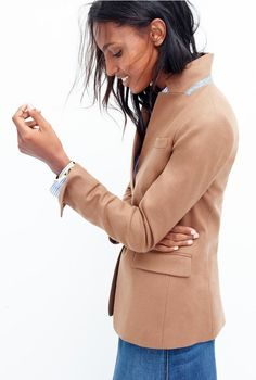 camel blazer // fall women fashion outfit clothing style apparel @roressclothes closet ideas