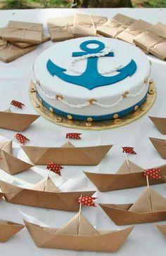 Just example nautical cake Baby Shower Favors, Baby Shower Themes, Baby Boy Shower, Baby Shower Invitations, Baby Showers, Pirate Birthday, Baby Birthday, 1st Birthday Parties, Nautical Cake