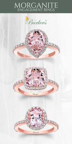 Barkev's morganite engagement rings are both fresh and unique. Our morganites are carefully selected to complement our unique designs. Check out the entire collection at www.barkevs.com.