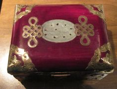 Vintage Rosewood Ornate Chinese Jade Jewelry Box with Brass Accents by zoecatglitzanglamour on Etsy