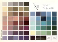 Soft Summer Colour Guide - Part 3 HUES — My Colour Stylist Winter Colors, Summer Colors, Soft Summer Makeup, Soft Summer Color Palette, Soft Autumn, Muted Colors, Vegetable Gardening, Container Gardening, Color Palettes