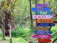 Colourful signs brightens up the aerea..