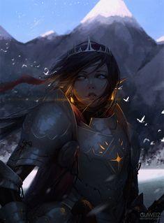 Knight by GUWEIZ.deviantart.com on @DeviantArt