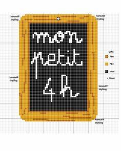 cuisine - kitchen - mon petit 4 h - point de croix - cross stitch - Blog : http://broderiemimie44.canalblog.com/