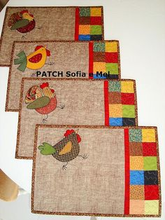 .placemats or mug rug possibilities.