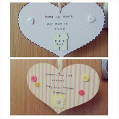 Hanging hearts for Mum - The Supermums Craft Fair