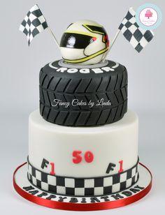 Formula One Themed Birthday Cake 07917815712 www.facebook.com/fancycakeslinda www.fancycakesbylinda.co.uk
