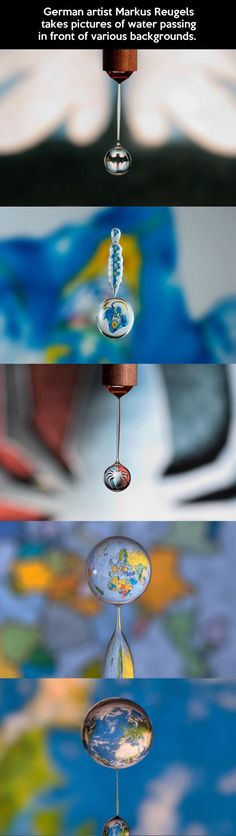 Water drop art…        These are the coolest pictures.