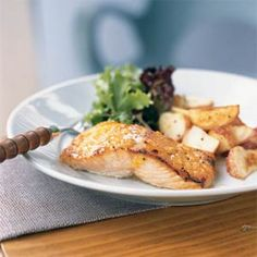Broiled Salmon with Marmalade-Dijon Glaze | MyRecipes.com #myplate #protein