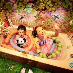 Concurso TEN Segundo Premio   Ganador tema Family - Bertille Graphiste  www.tencollectioncontest.com