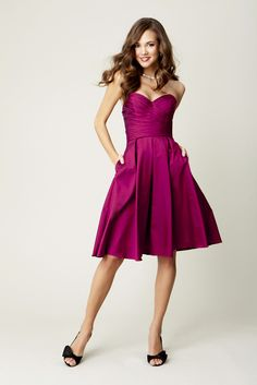 Kennedy Blue Bridesmaid Dress #coloroftheyear | See our blog for more Radiant Orchid Wedding Inspirations! http://blog.soireefloral.com/2014/01/2014-pantone-color-of-year-radiant.html #soireefloral #radiant #orchid #inspirations #nantucketwedding