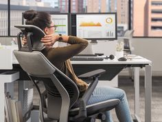 Sitting is a fine way and, most of the time, the best way to perform tasks. Best Office Chair, Cool Office, Office Chairs, Chair Pillow, Pillows, Ergonomic Chair, Head And Neck, Rocking Chair, Chair Design