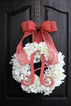 Hydrangea Wreath Spring Wreath for Summer Wreath by OurSentiments, $89.00
