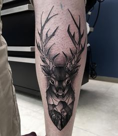Fun piece from today! Thank you, Helge! :D #tattoo #tattooartist #tattoostudio #deer #mountain #scenery #tree #forest #blackwork #blackandgrey #norway #art #drawing #sandnes #stavanger #studio #dotwork #newschool #artist #linework #cheyennehawk #silverbackink