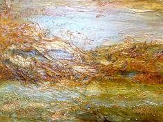 'Abstract Landscape' Mary Arkless, mixed media
