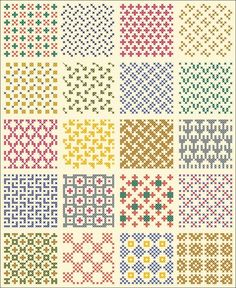 Motif Knitting Charts, Fair Isle Knitting Patterns, Fair Isle Pattern, Knitting Designs, Knitting Stitches, Knit Patterns, Blackwork Embroidery, Diy Embroidery, Cross Stitch Embroidery