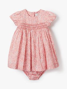2f599423b John Lewis & Partners Heirloom Collection Ditsy Floral Dress and Knickers  Set, Pink Simple Dresses
