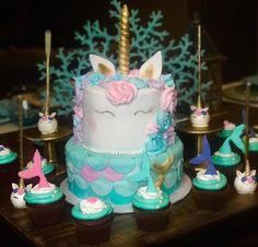 """unicorn mermaid unicorn mermaid cake…"""""""