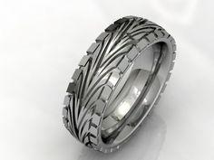 tire tread Wedding Rings | Jason Charles Jewellery