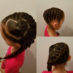 Heart section with four braids, and one braid.