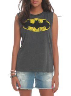 DC Comics Batman Striped Muscle Girls Top ($18.38-24.50) - Hot Topic