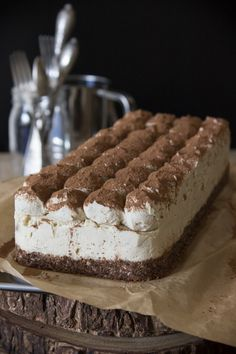 Vegan, No-bake Tiramisu Cake by Deviliciously Raw